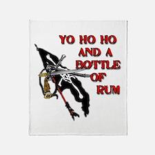 Yo Ho Ho Pirate Throw Blanket