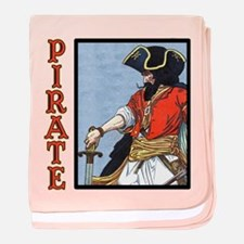 Colorful Pirate Art baby blanket