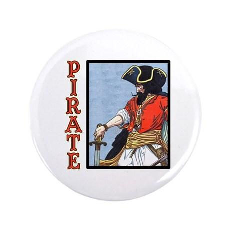 """Colorful Pirate Art 3.5"""" Button (100 pack)"""
