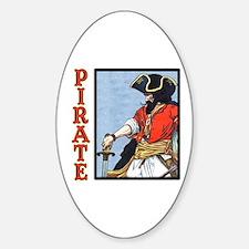 Colorful Pirate Art Sticker (Oval)