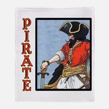 Colorful Pirate Art Throw Blanket