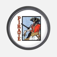 Colorful Pirate Art Wall Clock