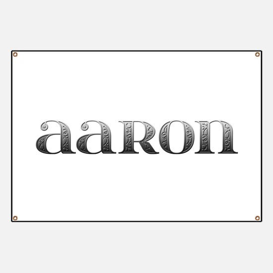 Aaron Carved Metal Banner