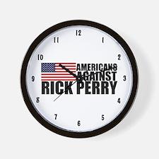Anti Rick Perry Wall Clock