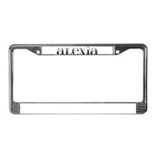 Alexia Carved Metal License Plate Frame