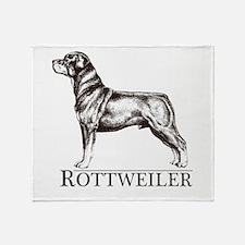 Rottweiler Breed Type Throw Blanket