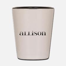 Allison Carved Metal Shot Glass