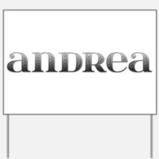Andrea Carved Metal Yard Sign