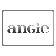 Angie Carved Metal Banner