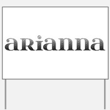 Arianna Carved Metal Yard Sign
