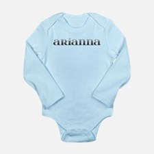 Arianna Carved Metal Long Sleeve Infant Bodysuit