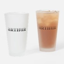 Arthur Carved Metal Drinking Glass