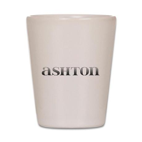 Ashton Carved Metal Shot Glass