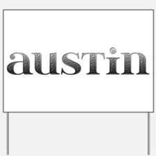 Austin Carved Metal Yard Sign