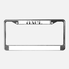 Axel Carved Metal License Plate Frame