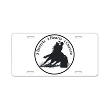 Three Barrels Aluminum License Plate
