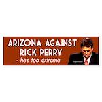 Arizona Against Rick Perry bumper sticker