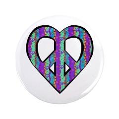 "Wavy Peace Design Stripes 3.5"" Button"