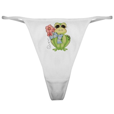 Cute Frog & Flower Classic Thong