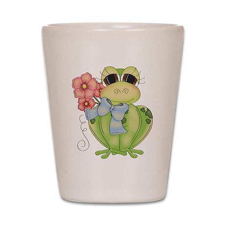 Cute Frog & Flower Shot Glass