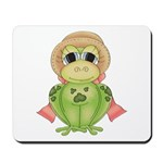 Funny Frog With Hat Mousepad