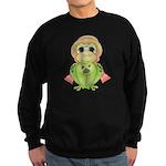 Funny Frog With Hat Sweatshirt (dark)