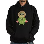 Funny Frog With Hat Hoodie (dark)