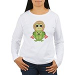 Funny Frog With Hat Women's Long Sleeve T-Shirt