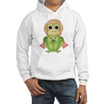 Funny Frog With Hat Hooded Sweatshirt