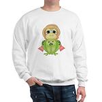 Funny Frog With Hat Sweatshirt