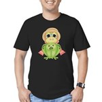 Funny Frog With Hat Men's Fitted T-Shirt (dark)