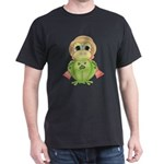 Funny Frog With Hat Dark T-Shirt