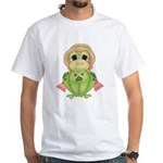 Funny Frog With Hat White T-Shirt