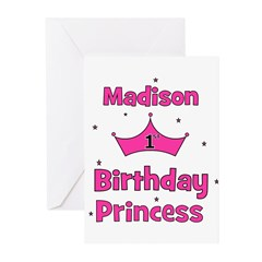 1st Birthday Princess Madison Greeting Cards (Pk o