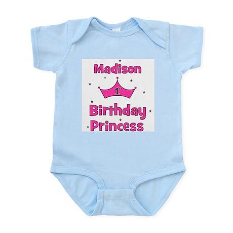 1st Birthday Princess Madison Infant Bodysuit