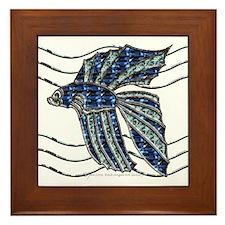 Beta Fish Framed Tile