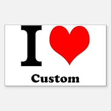 Custom Love Sticker (Rectangle)