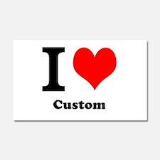 Custom Love Car Magnet 20 x 12