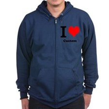 Custom Love Zip Hoodie