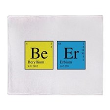 Periodic Beer Throw Blanket
