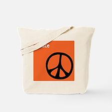 Orange iPeace Sign Tote Bag