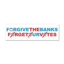 forgive_and_forget Car Magnet 10 x 3