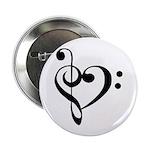 A Treble and Bass heart badge