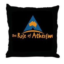 The Rise Of Atheism Throw Pillow