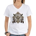 Dreamcatcher Medicine Wheel Women's V-Neck T-Shirt