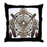 Dreamcatcher Medicine Wheel Throw Pillow
