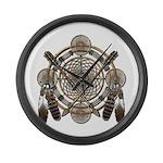 Dreamcatcher Medicine Wheel Large Wall Clock