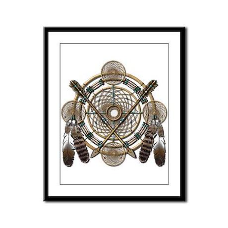 Dreamcatcher Medicine Wheel Framed Panel Print