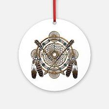 Dreamcatcher Medicine Wheel Ornament (Round)
