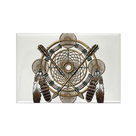 Dreamcatcher Medicine Wheel Rectangle Magnet